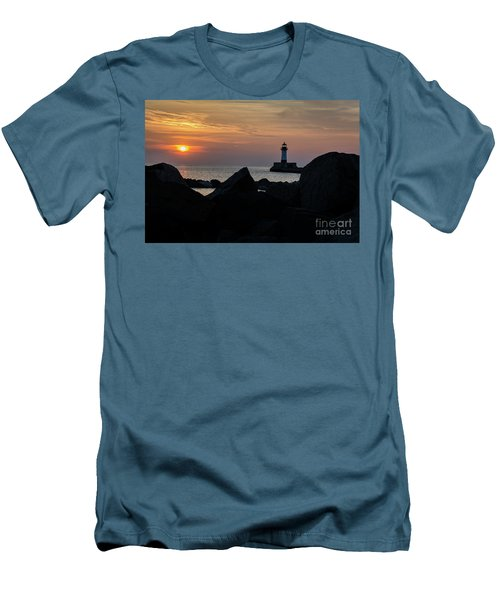 Rocky Sunrise Men's T-Shirt (Athletic Fit)