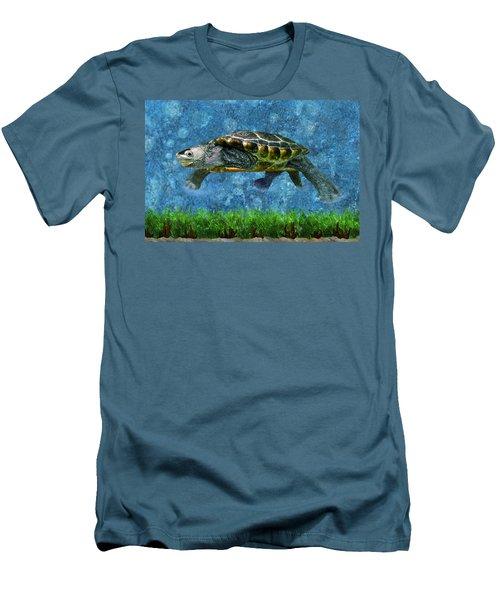Rodney The Diamondback Terrapin Turtle Men's T-Shirt (Athletic Fit)
