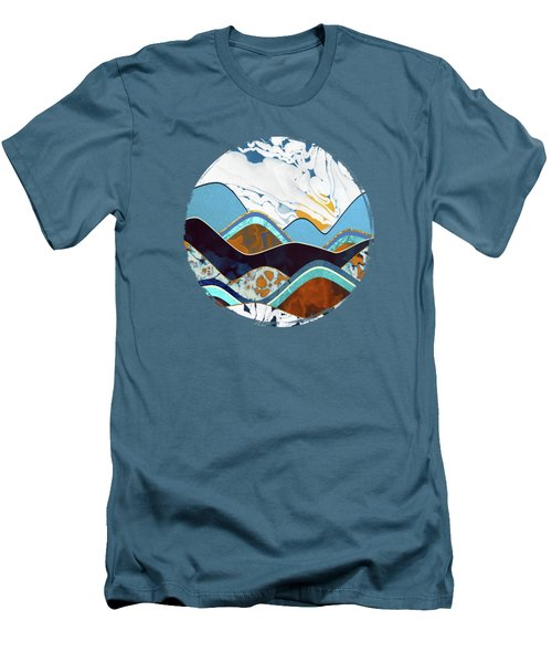 Rolling Hills Men's T-Shirt (Slim Fit) by Spacefrog Designs