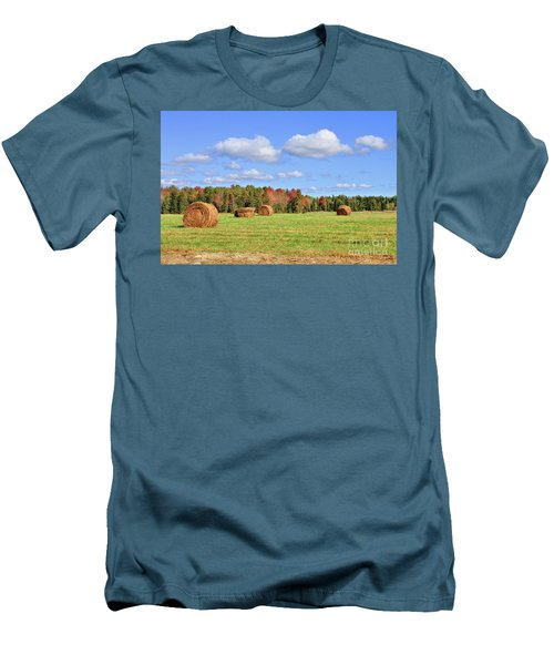 Rolls Of Hay On A Beautiful Day Men's T-Shirt (Athletic Fit)