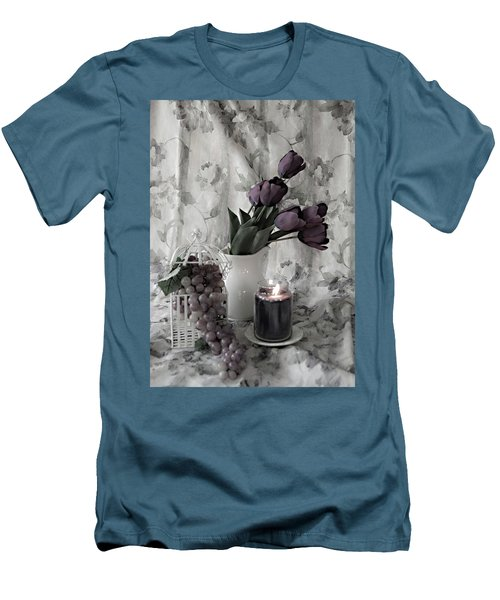Men's T-Shirt (Slim Fit) featuring the photograph Romantic Thoughts by Sherry Hallemeier
