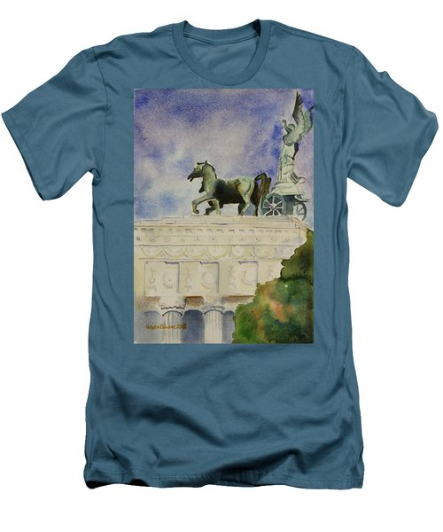 Rome Souvenir Men's T-Shirt (Slim Fit) by Geeta Biswas