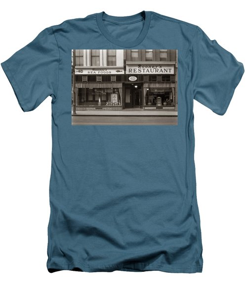 Rooney's Restaurant Wilkes Barre Pa 1940s Men's T-Shirt (Athletic Fit)