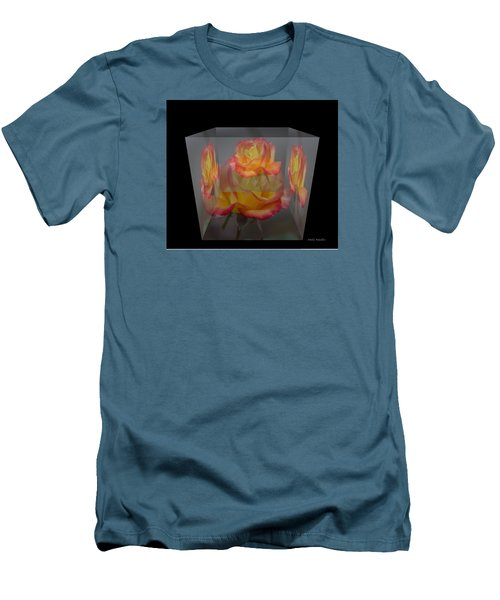Men's T-Shirt (Slim Fit) featuring the photograph Rose Block by Debra     Vatalaro