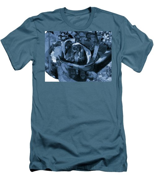 Rose No 1 Men's T-Shirt (Slim Fit) by David Bridburg