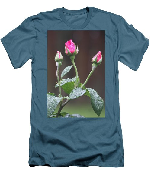 Men's T-Shirt (Athletic Fit) featuring the photograph Rose Trio by Vadim Levin