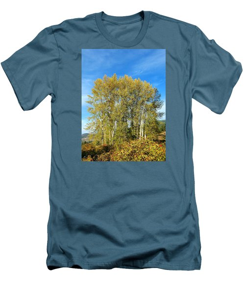 Rosehips And Cottonwoods Men's T-Shirt (Slim Fit)