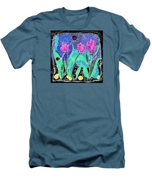 Roses And Lemons Men's T-Shirt (Slim Fit) by Debra Baldwin