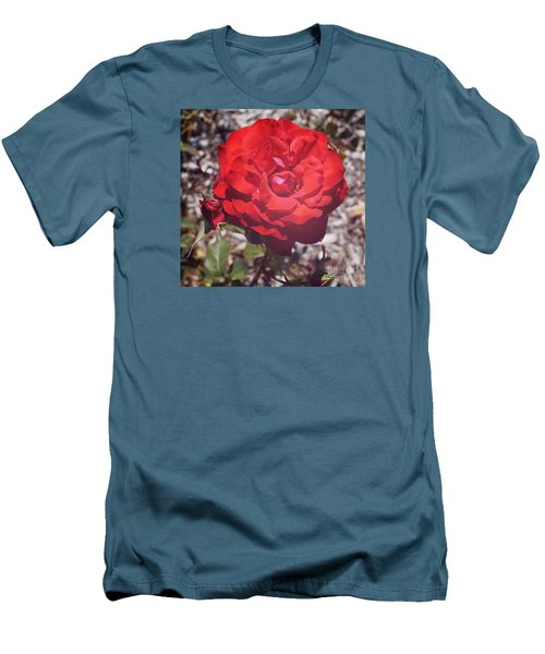 Men's T-Shirt (Slim Fit) featuring the photograph Roses Are Red by Cassandra Buckley