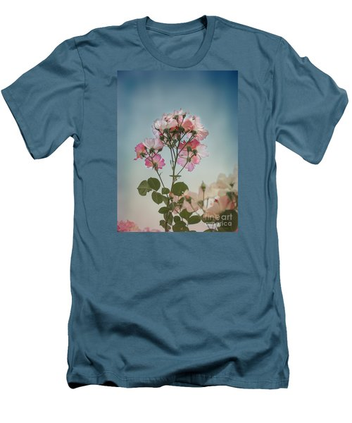 Men's T-Shirt (Slim Fit) featuring the photograph Roses In The Sky by Elaine Teague