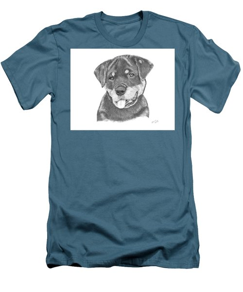 Rottweiler Puppy- Chloe Men's T-Shirt (Athletic Fit)