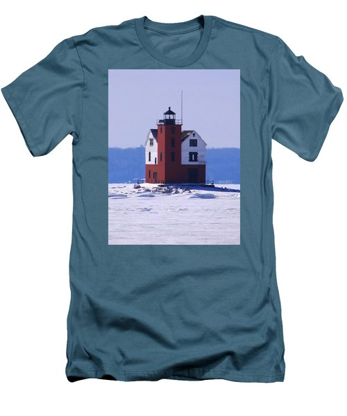 Round Island 2 Men's T-Shirt (Slim Fit) by Keith Stokes