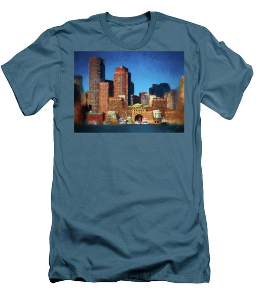 Rowes Wharf Boston Men's T-Shirt (Athletic Fit)