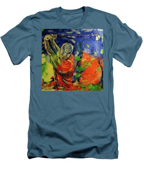 Rueckschwung   Backswing Men's T-Shirt (Slim Fit) by Koro Arandia