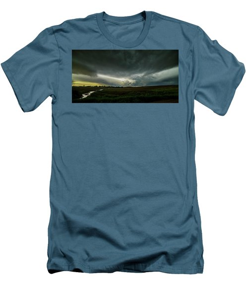 Rural Spring Storm Over Chester Nebraska Men's T-Shirt (Athletic Fit)