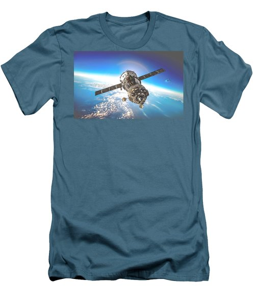 Majestic Blue Planet Earth Men's T-Shirt (Slim Fit) by Maciek Froncisz