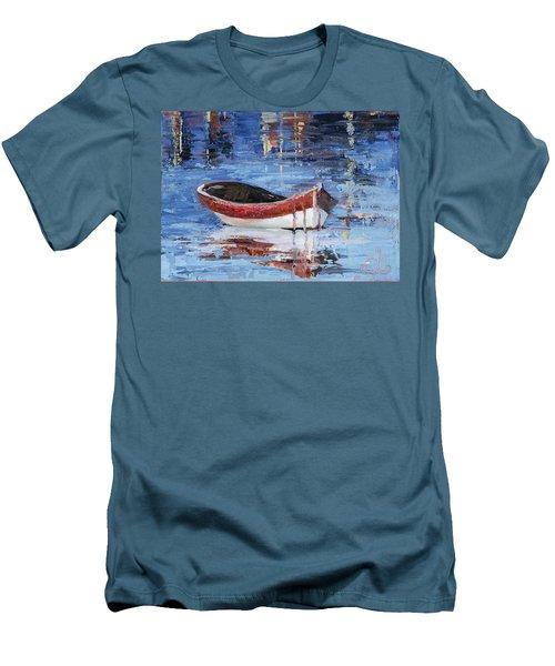 Rusty Brown Blues Men's T-Shirt (Slim Fit) by Trina Teele