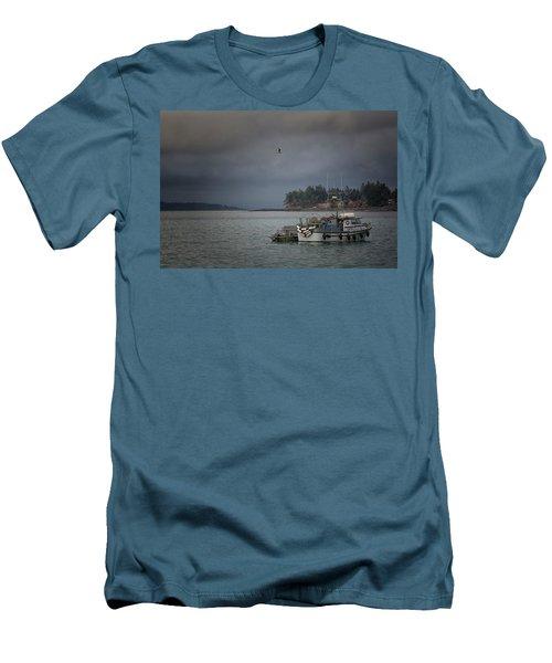 Ryan D Men's T-Shirt (Slim Fit) by Randy Hall