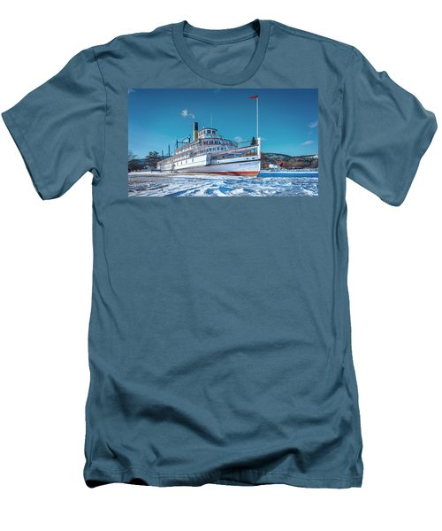 Men's T-Shirt (Slim Fit) featuring the photograph S. S. Sicamous by John Poon