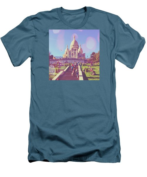 Sacre-coeur In Summer Men's T-Shirt (Slim Fit)