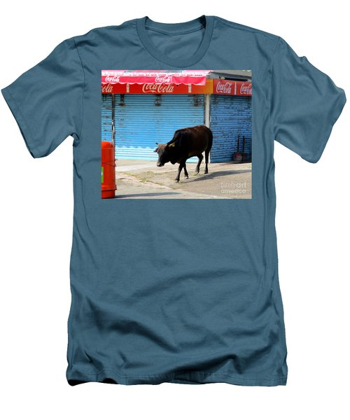 Men's T-Shirt (Slim Fit) featuring the photograph Sacred Cow 1 by Randall Weidner