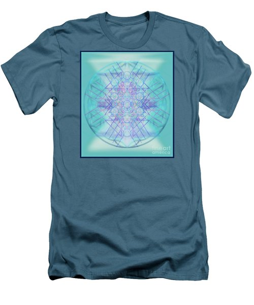 Men's T-Shirt (Slim Fit) featuring the digital art Sacred Symbols Out Of The Void A2b by Christopher Pringer