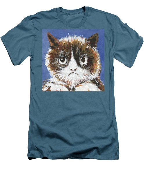 Sad Cat Men's T-Shirt (Athletic Fit)