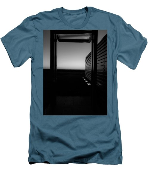 Men's T-Shirt (Athletic Fit) featuring the photograph Sag Harbor Sunset 2 In Black And White by Rob Hans