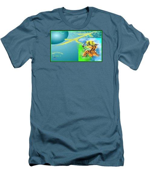 Men's T-Shirt (Slim Fit) featuring the digital art Sagittarius by The Art of Alice Terrill