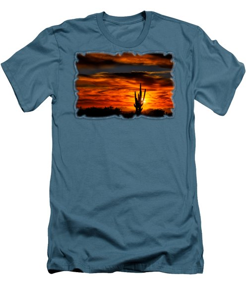 Saguaro Sunset H31 Men's T-Shirt (Athletic Fit)