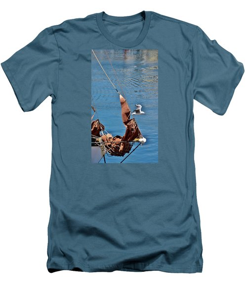 Men's T-Shirt (Slim Fit) featuring the photograph Sail Boat by Werner Lehmann
