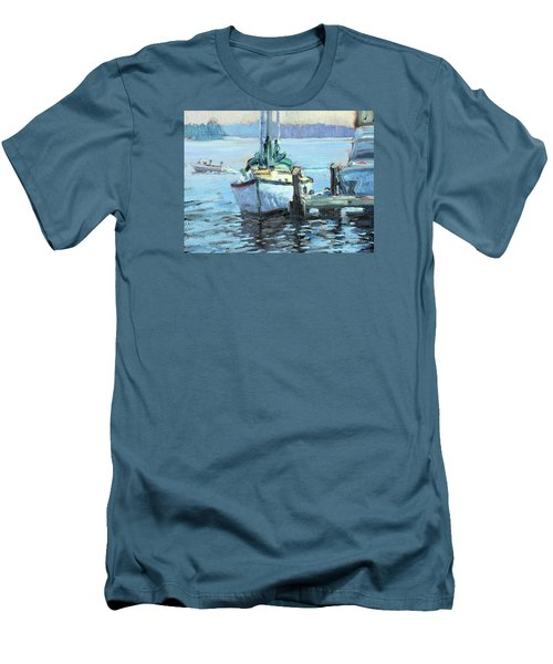 Sailboat At Rest Men's T-Shirt (Athletic Fit)