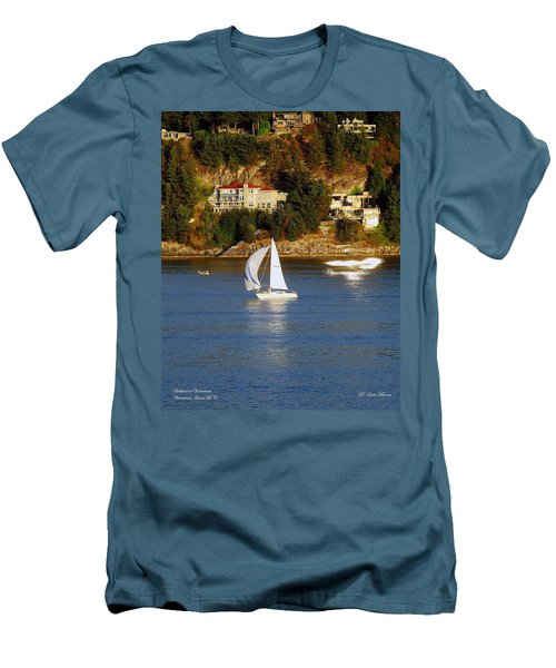 Sailboat In Vancouver Men's T-Shirt (Athletic Fit)