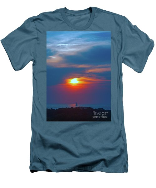Sailboat Sunset Men's T-Shirt (Slim Fit) by Todd Breitling