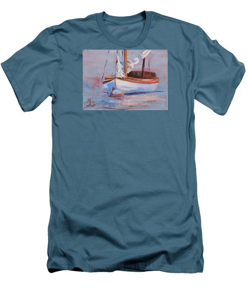 Sailboat Wisdom Men's T-Shirt (Slim Fit) by Trina Teele