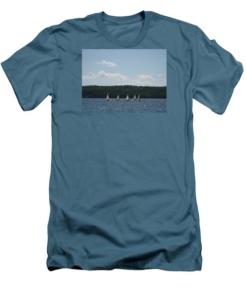 Sailboats In Eagle Harbor Men's T-Shirt (Athletic Fit)