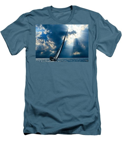 Sailing Boats At Sea , Photography , Men's T-Shirt (Athletic Fit)