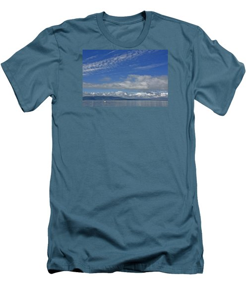 Sailing In The San Juan Islands Men's T-Shirt (Slim Fit) by Elvira Butler