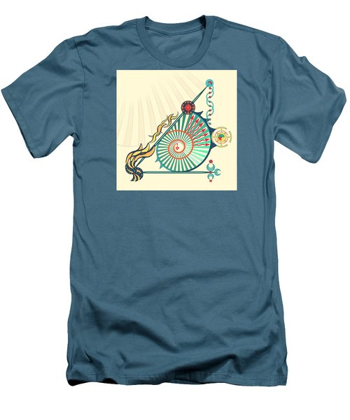 Men's T-Shirt (Slim Fit) featuring the digital art Sailing Infinity by Deborah Smith