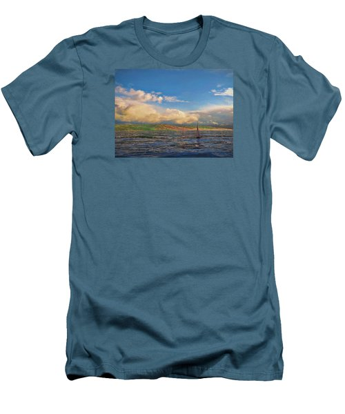 Sailing On Galilee Men's T-Shirt (Slim Fit) by Dave Luebbert