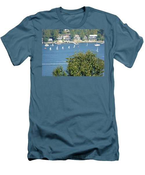Sailing Men's T-Shirt (Slim Fit) by Rod Jellison