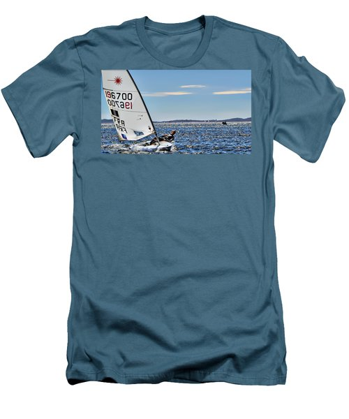 Sailing Ship  In Marseille Men's T-Shirt (Athletic Fit)