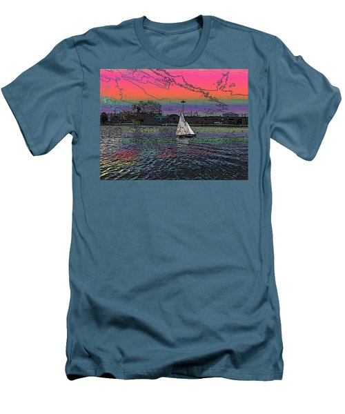 Sailing South Lake Union Men's T-Shirt (Athletic Fit)