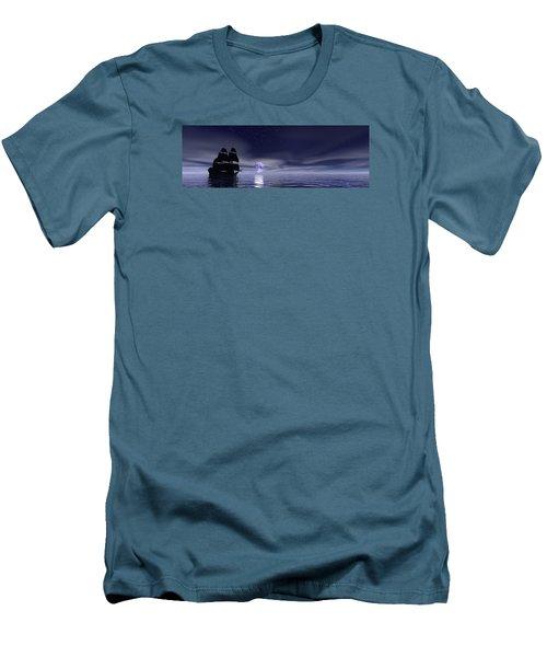 Sails Beneath The Moon Men's T-Shirt (Athletic Fit)