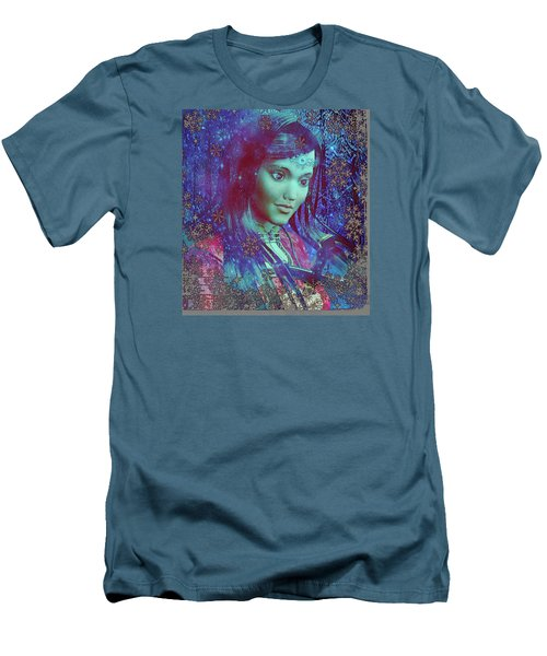 Men's T-Shirt (Slim Fit) featuring the painting Saint Mary Magdalene Of Nagasaki by Suzanne Silvir