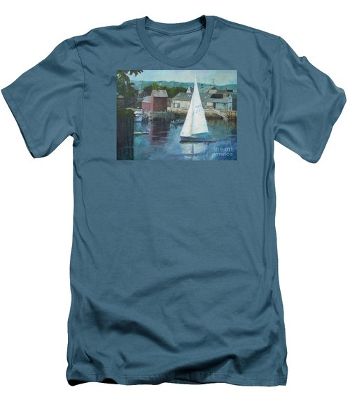 Saling In Rockport Ma Men's T-Shirt (Athletic Fit)