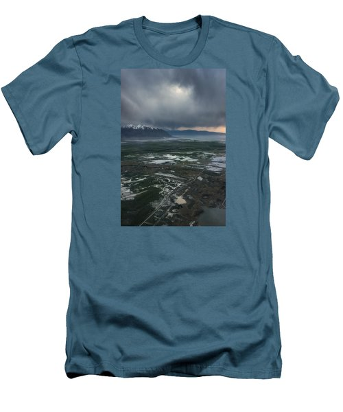 Men's T-Shirt (Slim Fit) featuring the photograph Salt Lake Drama by Ryan Manuel