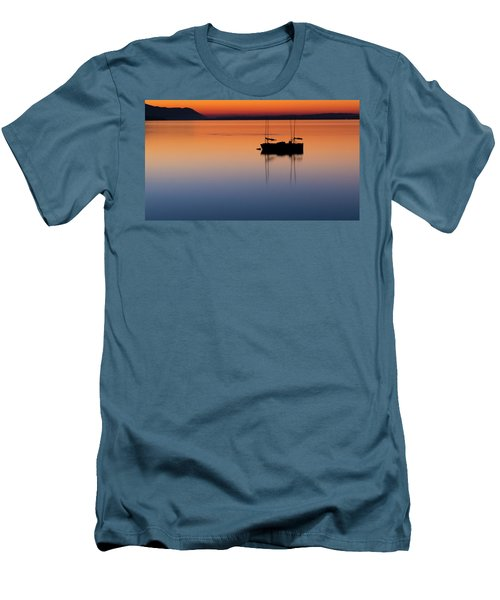 Samish Sea Sunset Men's T-Shirt (Slim Fit) by Tony Locke