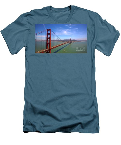 Men's T-Shirt (Slim Fit) featuring the photograph San Francisco Golden Gate Bridge by Debra Thompson