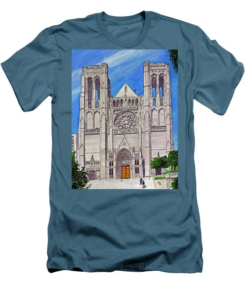 San Francisco's Grace Cathedral Men's T-Shirt (Slim Fit) by Mike Robles